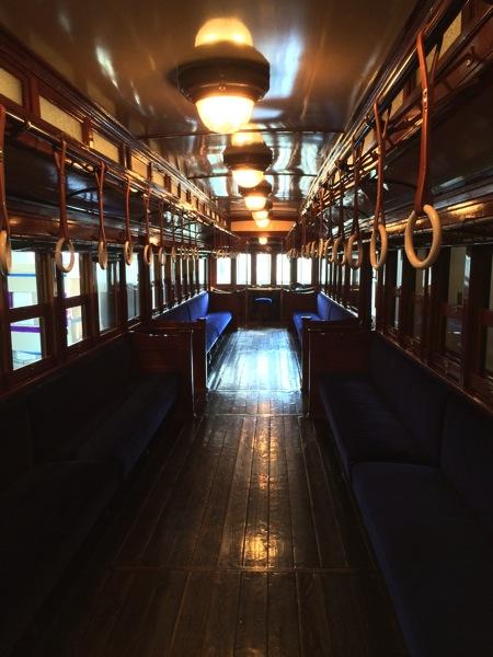 東武博物館 木造電車車内
