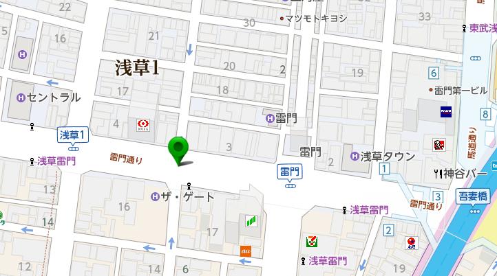 浅草のバス停