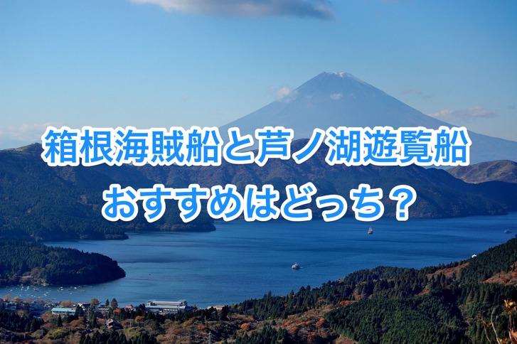 箱根海賊船と芦ノ湖遊覧船